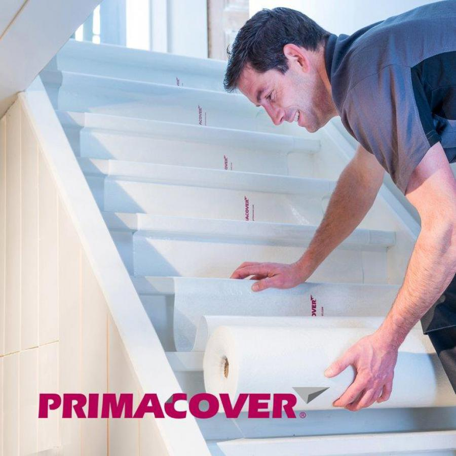 PrimaCover: universal self-adhesive protection for floors and stairs